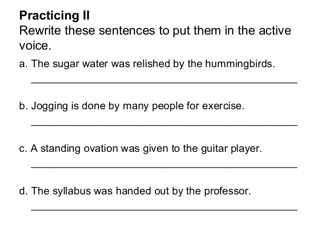 Active and passive voice – Active Passive Voice Worksheet