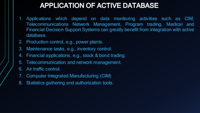 Active Database System