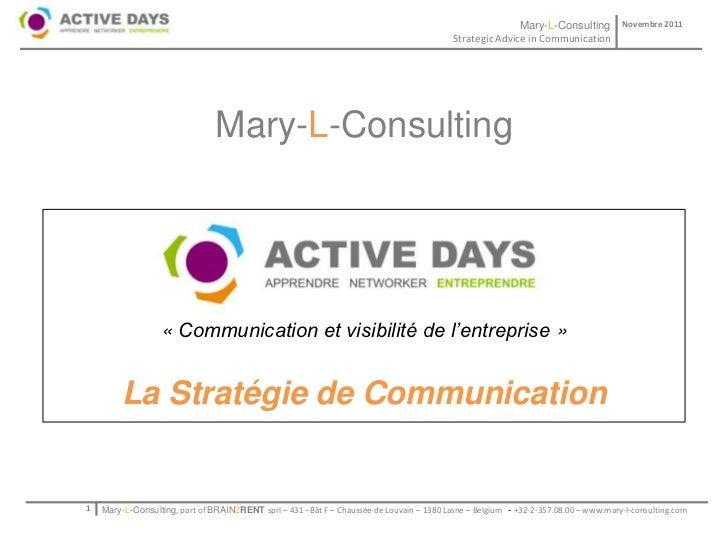 Mary-L-Consulting            Novembre 2011                                                                                ...