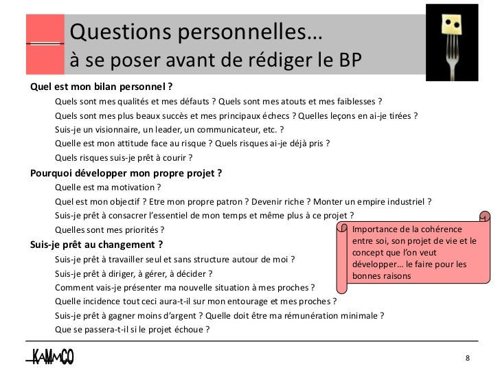 Questions personnelles…          à se poser avant de rédiger le BPQuel est mon bilan personnel ?      Quels sont mes quali...
