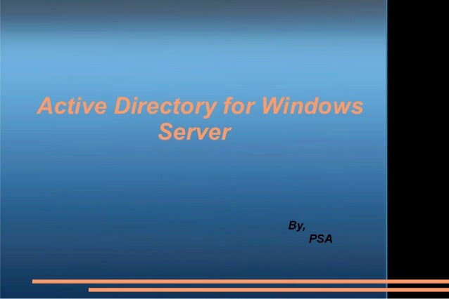 Active Directory for Windows Server