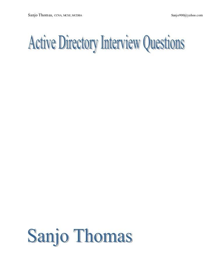 Sanjo Thomas, CCNA, MCSE, MCDBA   Sanjo900@yahoo.com