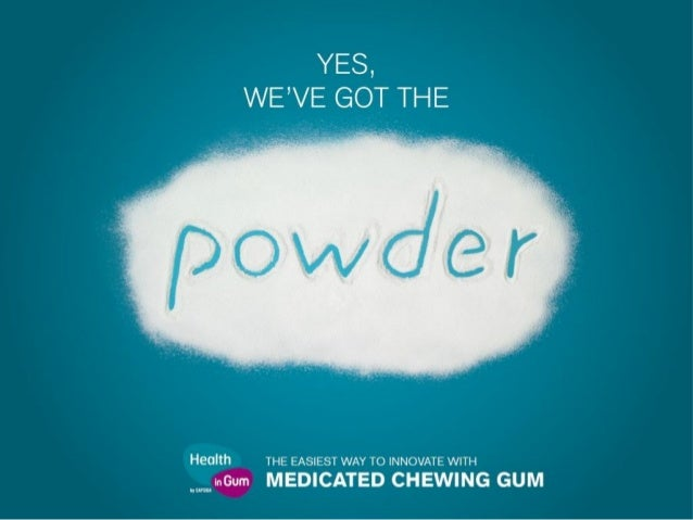 ACTIVE INGREDIENTS CURRENTLY MIXED WITH GUM Medicated and functional chewing gum has through the years gained increasing a...