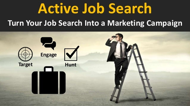 Engage Target Hunt Turn Your Job Search Into a Marketing Campaign Active Job Search