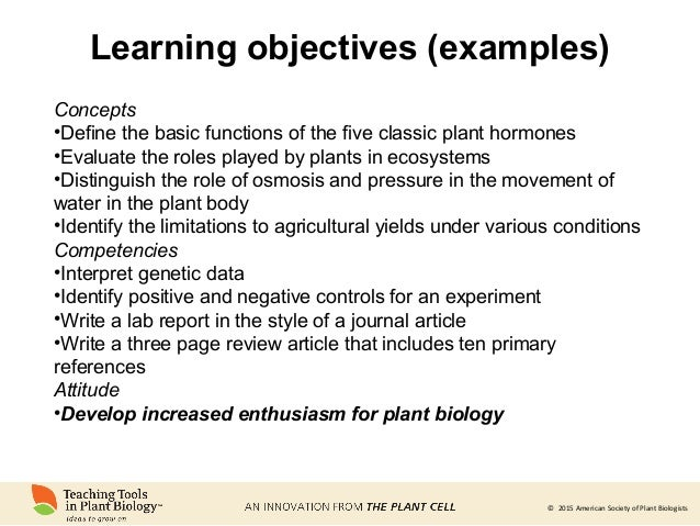Active learning in plant biology lectures