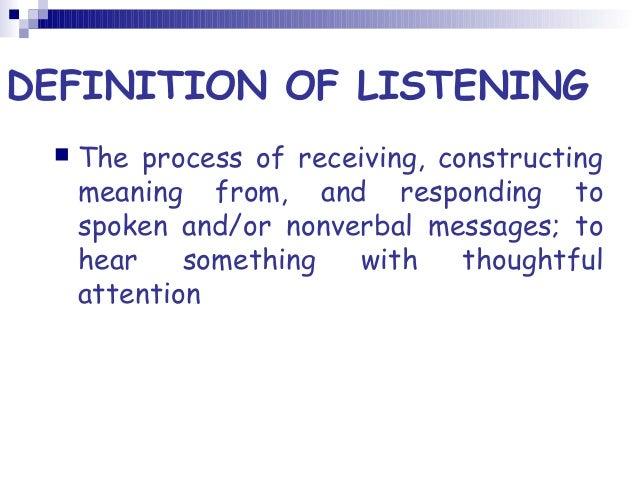 LISTENING DEFINITION EPUB