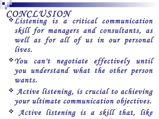 "essay on effective listening ""active listening skills"" was the first article i found interesting the article delivered a lot of very useful information that will help with assisting c."