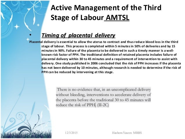 the physiological management of third stage Physiological with active management we need to be very clear about when the amount microsoft word - a1 further thoughts on the third stage author: sara.