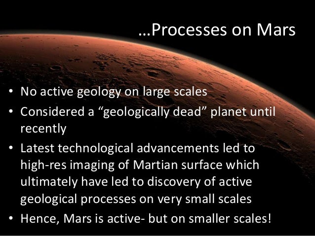 Active Geology on Mars