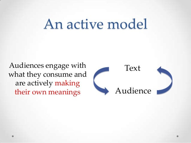 Active and Passive audience theories