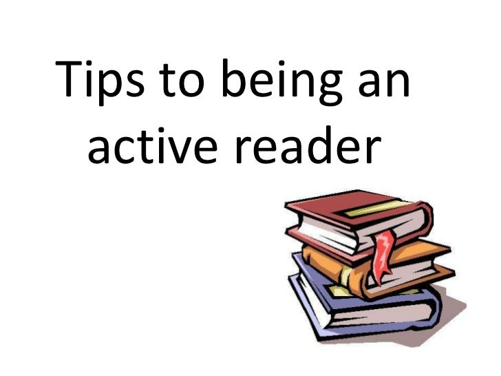 Tips to being an active reader