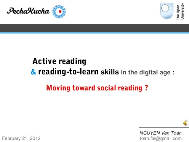 Active reading            & reading-to-learn skills in the digital age :                    Moving toward social reading ?...