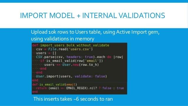 Active Record & SQL - Bulk Insert