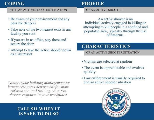 COPING                                         PROFILE WITH AN ACTIVE SHOOTER SITUATION                OF AN ACTIVE SHOOTE...