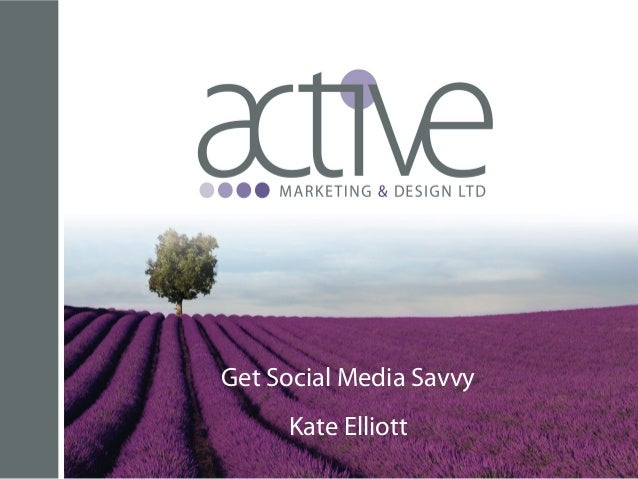 Get Social Media Savvy Kate Elliott