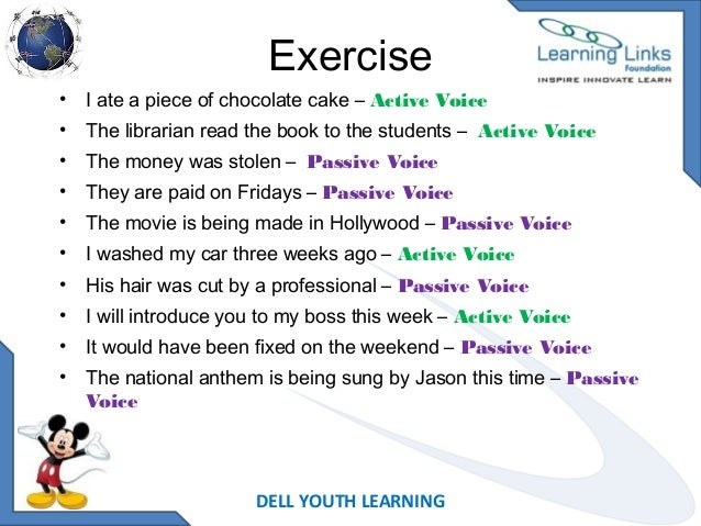 Active voice and passive voice – Active Passive Voice Worksheet