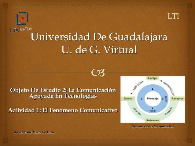 Objeto De Estudio 2: La ComunicaciónObjeto De Estudio 2: La Comunicación Apoyada En TecnologíasApoyada En Tecnologías Acti...