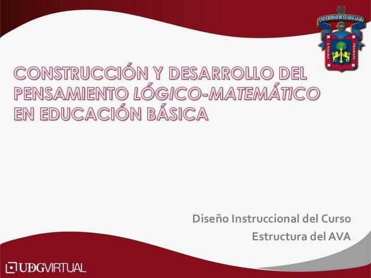 Diseño Instruccional del Curso           Estructura del AVA
