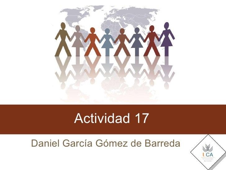 Actividad 17 Daniel García Gómez de Barreda