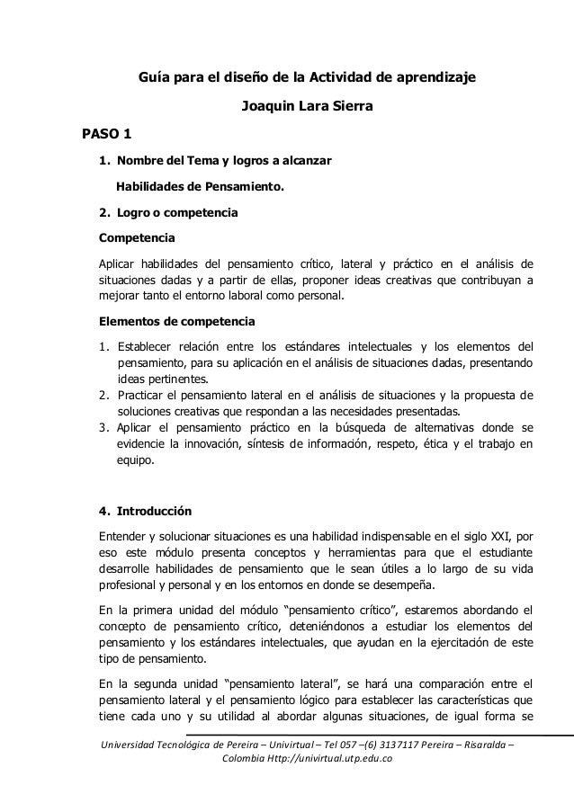 Universidad Tecnológica de Pereira – Univirtual – Tel 057 –(6) 3137117 Pereira – Risaralda – Colombia Http://univirtual.ut...