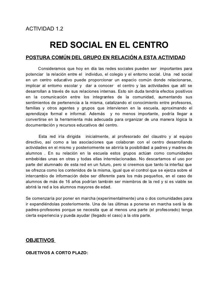 RED SOCIAL EN EL CENTRO (testua)