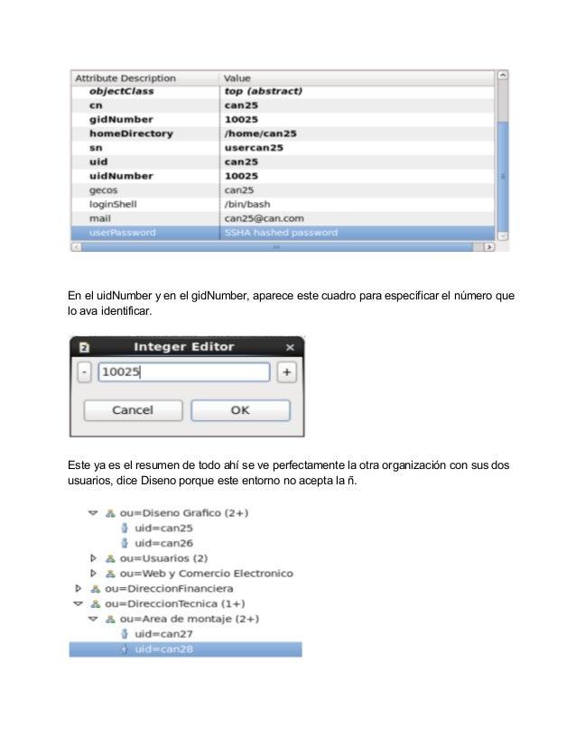 Administración de un directorio activo (LDAP) en Linux.