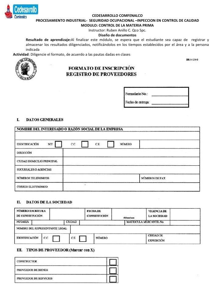 CEDESARROLLO COMFENALCO               PROCESAMIENTO INDUSTRIAL- SEGURIDAD OCUPACIONAL –INPECCION EN CONTROL DE CALIDAD    ...