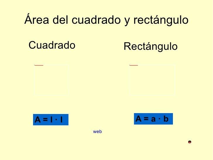 Área del cuadrado y rectángulo Cuadrado Rectángulo web