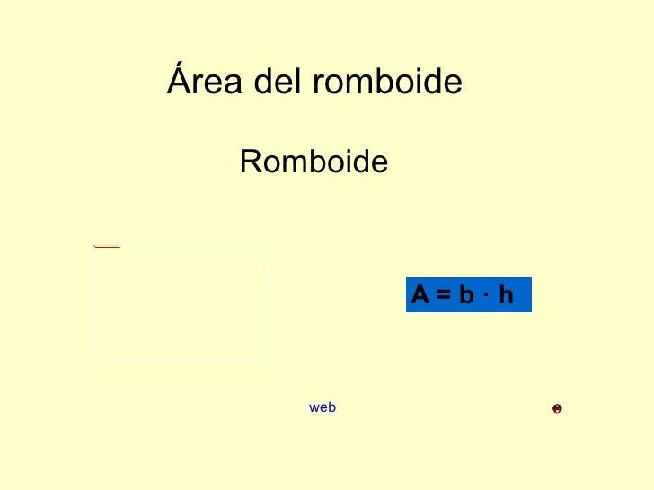 Área del romboide Romboide web