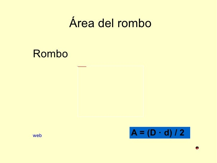 Área del rombo Rombo web