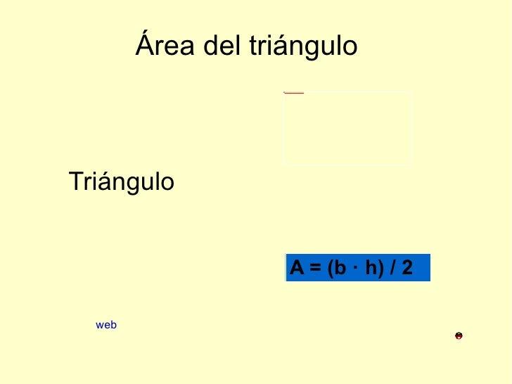 Área del triángulo Triángulo web