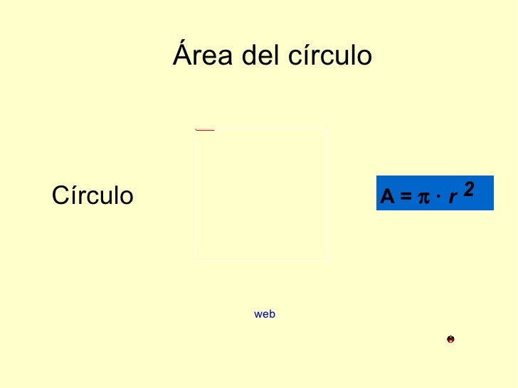 Área del círculo Círculo web