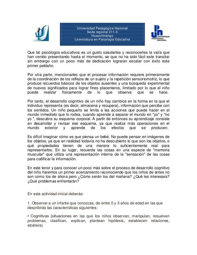Universidad Pedagógica Nacional Sede regional 211-3 Huauchinango Licenciatura en Psicología Educativa  Que tal psicólogos ...