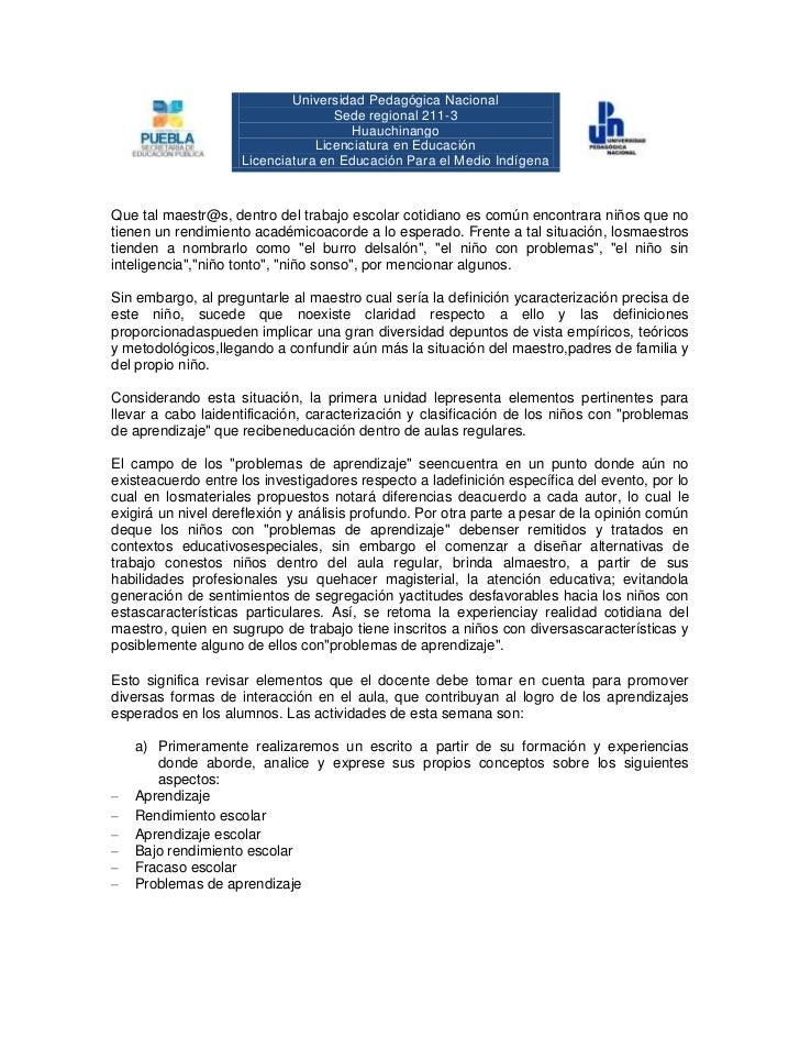 Universidad Pedagógica Nacional                                   Sede regional 211-3                                     ...