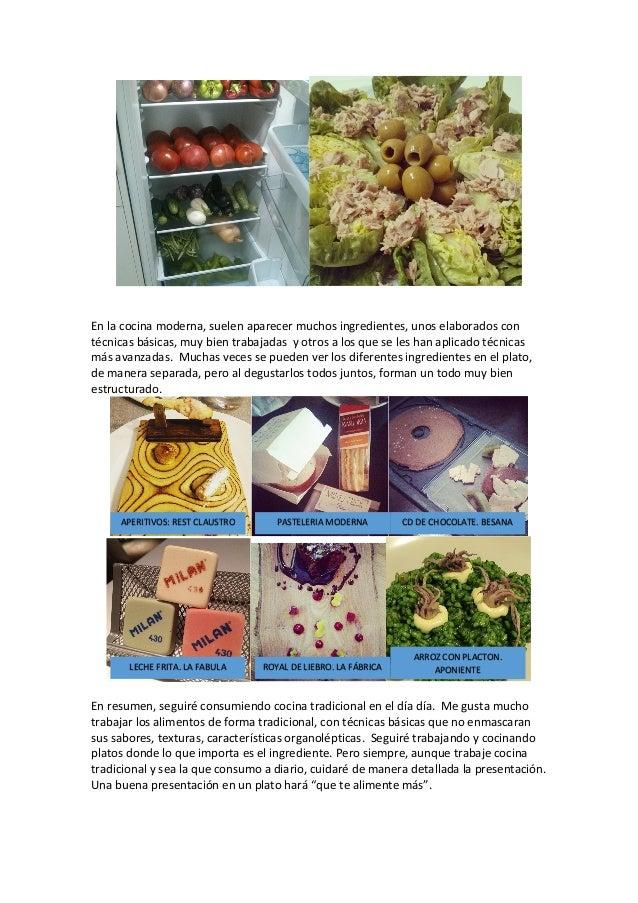 Actividad 2 1 cocina tradicional vs cocina moderna for Tecnicas modernas de cocina