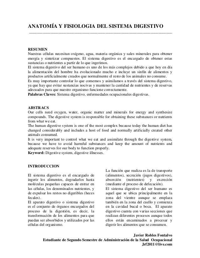Actividad 2 artículo sistema digestivo
