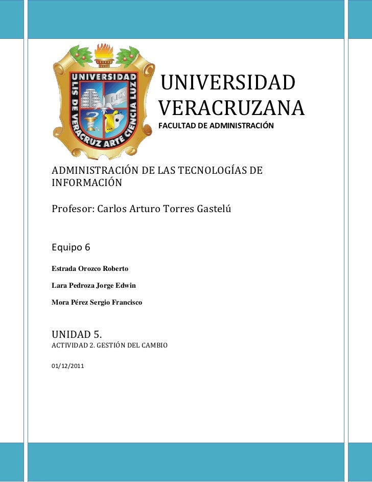 UNIVERSIDAD                              VERACRUZANA                              FACULTAD DE ADMINISTRACIÓNADMINISTRACIÓN...