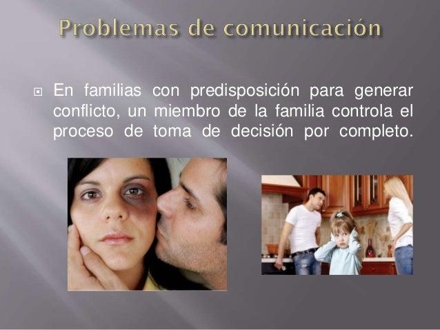  En familias con predisposición para generar conflicto, un miembro de la familia controla el proceso de toma de decisión ...
