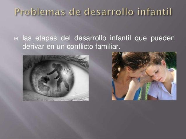 las etapas del desarrollo infantil que pueden derivar en un conflicto familiar.