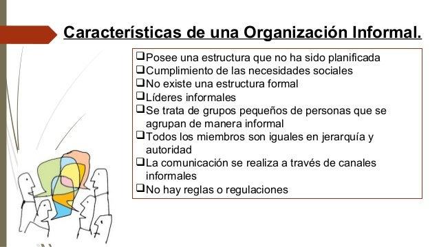 Las Organizaciones Sociales Formales Y No Formales Y El