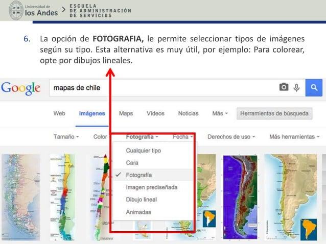 6. La opción de FOTOGRAFIA, le permite seleccionar tipos de imágenes según su tipo. Esta alternativa es muy útil, por ejem...