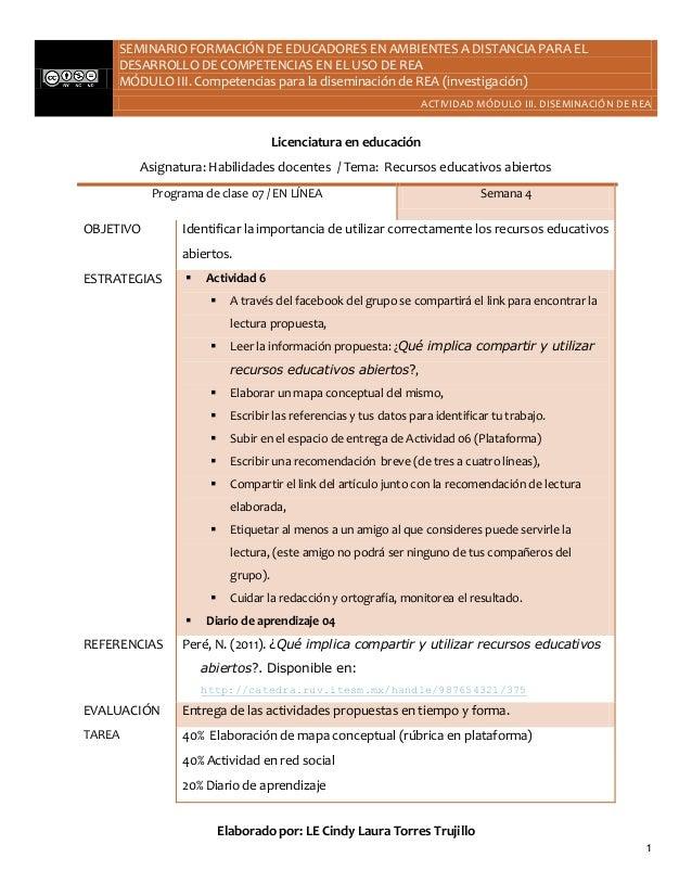 SEMINARIO FORMACIÓN DE EDUCADORES EN AMBIENTES A DISTANCIA PARA EL        DESARROLLO DE COMPETENCIAS EN EL USO DE REA     ...