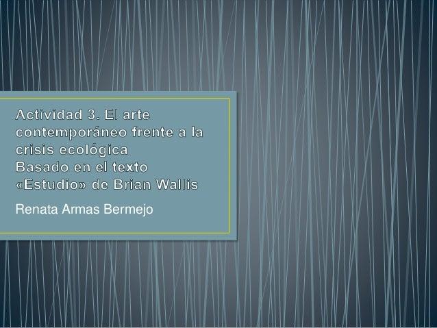 Renata Armas Bermejo
