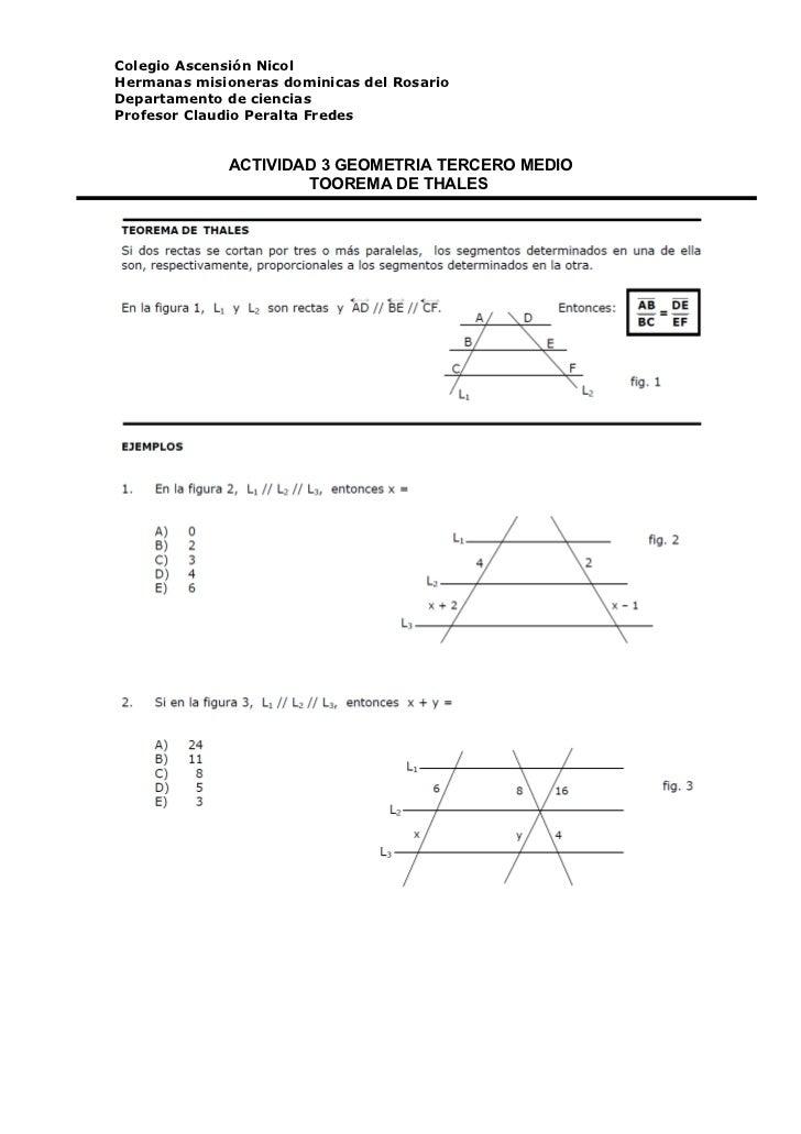 Actividad 3 geometria tercero medio