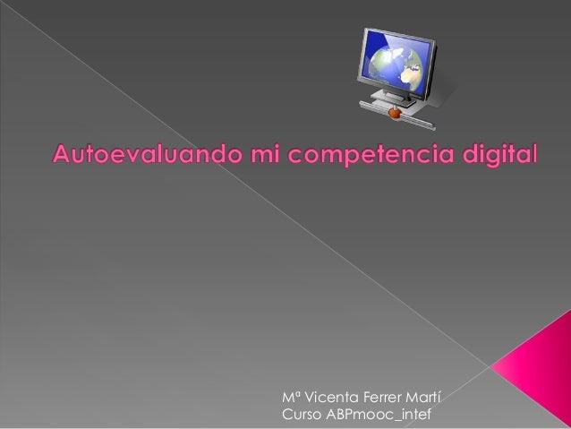Mª Vicenta Ferrer Martí Curso ABPmooc_intef
