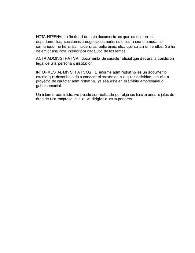 NOTA INTERNA: La finalidad de este documento es que los diferentes departamentos, secciones o negociados pertenecientes a ...