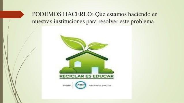 APRENDIENDO A CUIDAR EL PLANETA Slide 3