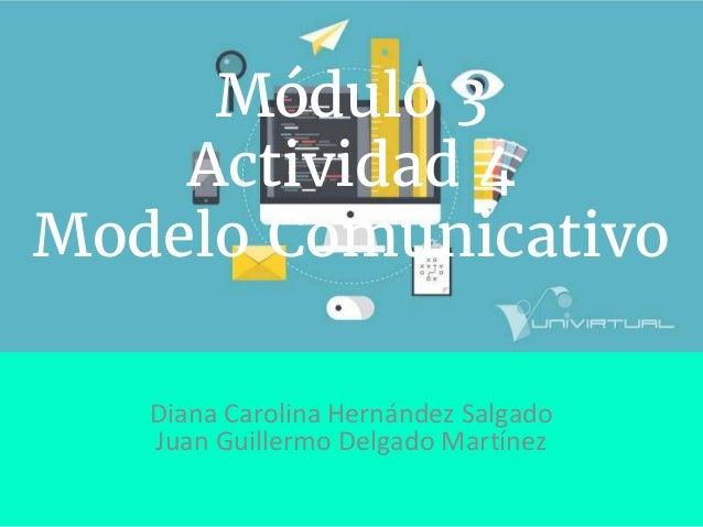 Módulo 3 Actividad 4 Modelo Comunicativo Diana Carolina Hernández Salgado Juan Guillermo Delgado Martínez