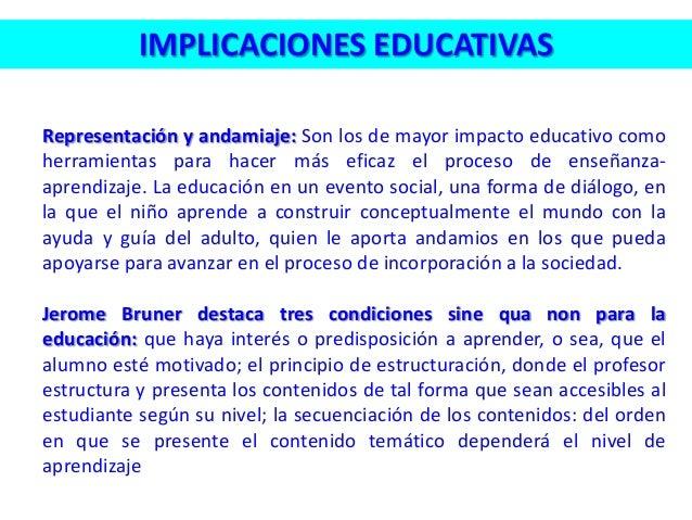Representación y andamiaje: Son los de mayor impacto educativo como herramientas para hacer más eficaz el proceso de enseñ...