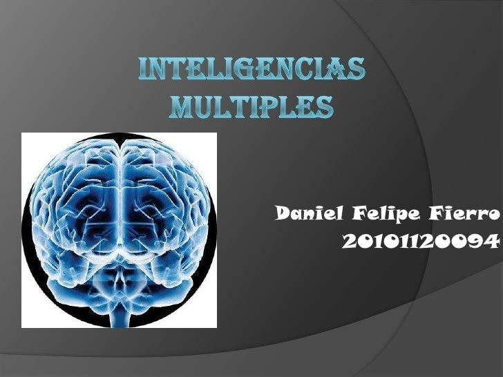 Inteligencias Multiples<br />Daniel Felipe Fierro<br />20101120094<br />